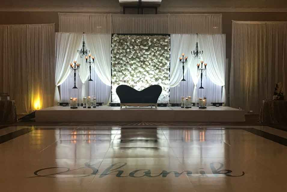 Black & White theme Flowerwall Hyatt Regency