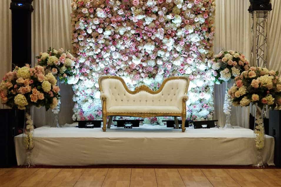 Flowerwall Reception Decor Hyatt Regency