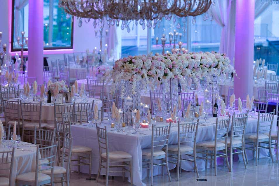 High centerpieces at greentree country club