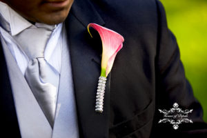 Matching Wedding Floral Boutonniere