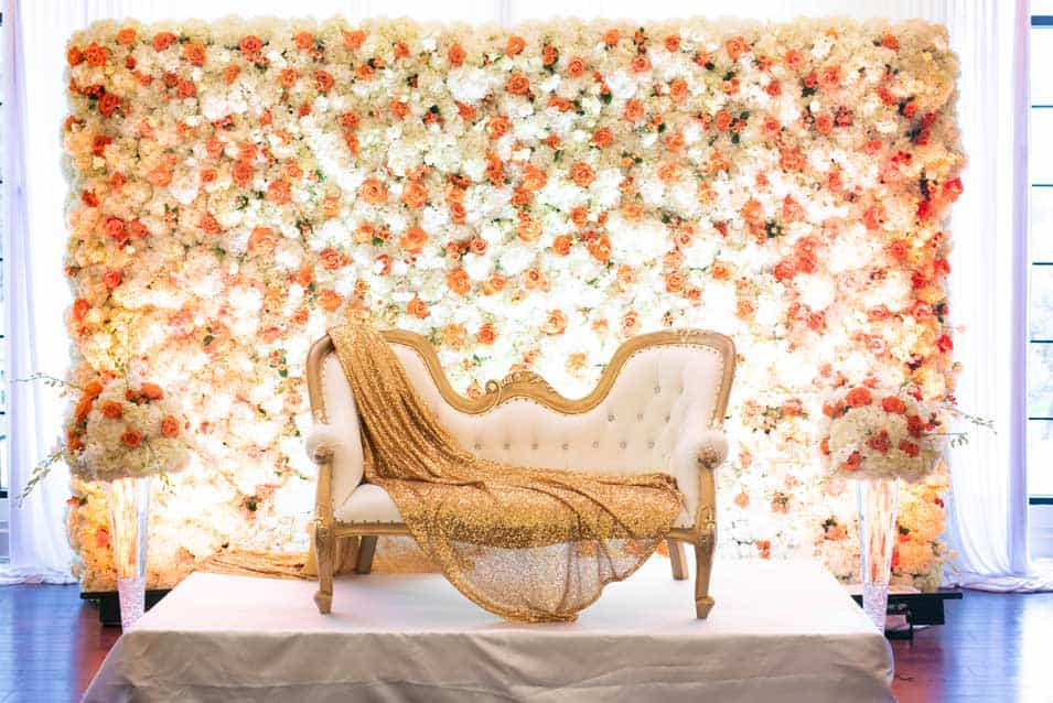 Flower Wall at Swan Club