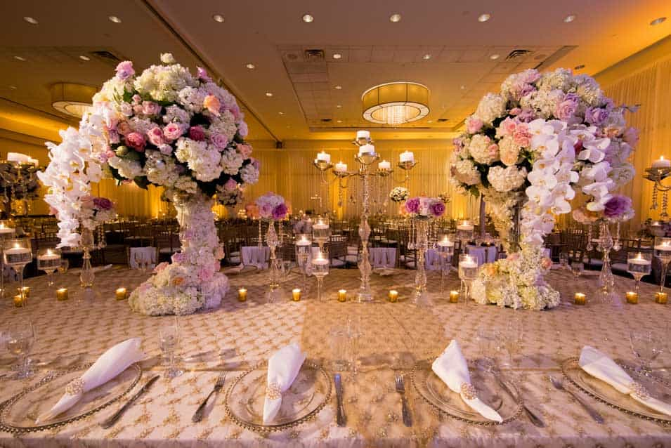 High Centerpiece Hilton Huntington