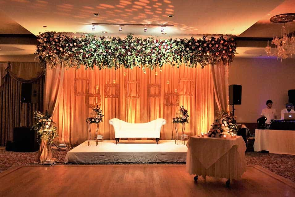 Reception decor at akbar Restaurant