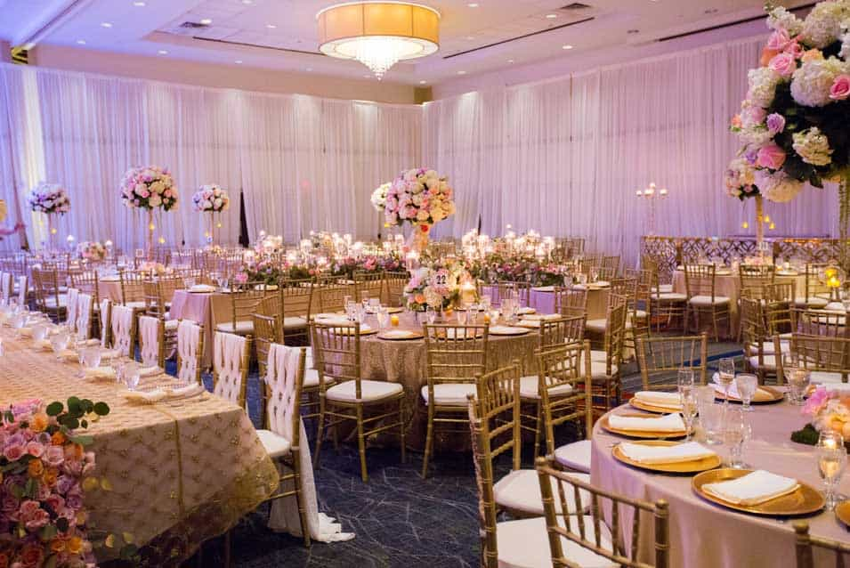 Reception Decor at Hilton Huntington