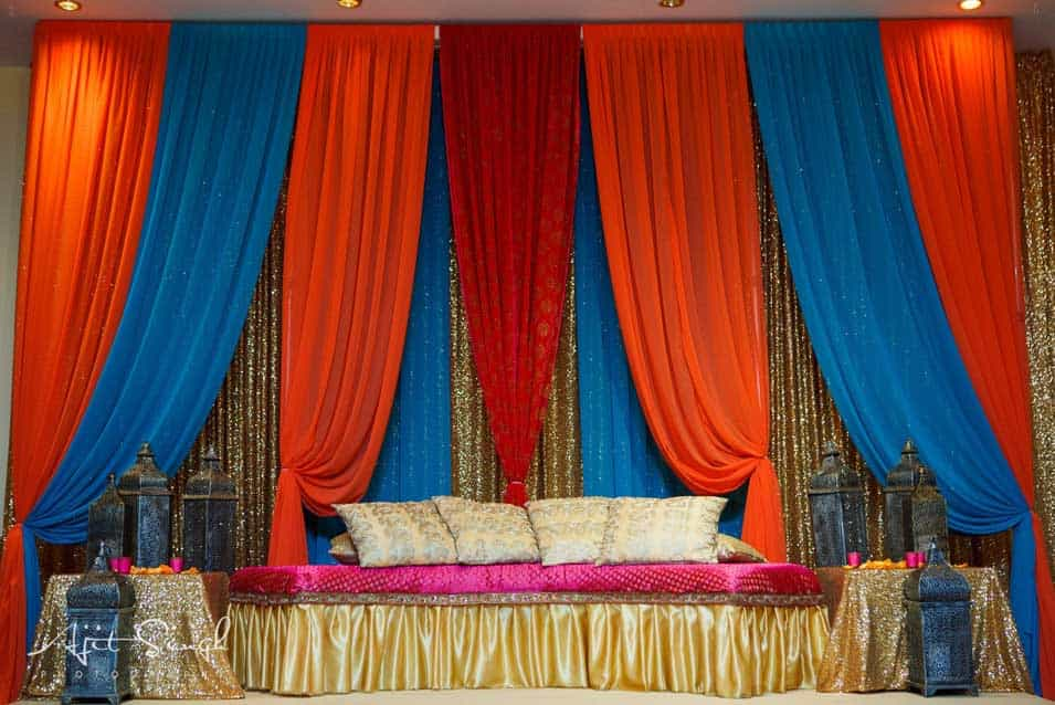 Sangeet decor at akbar restaurant