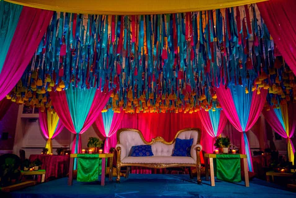Sangeet decor at hyatt long Island