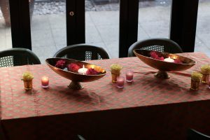 Indian decor candles and vases